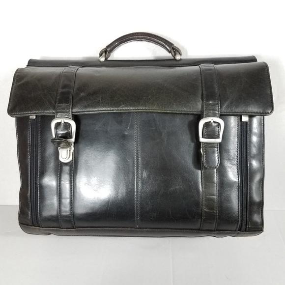 4749cbca608a Wilson Vintage Leather Mens Briefcase  Satchel. M 5b8600eb34a4efc547efac0c